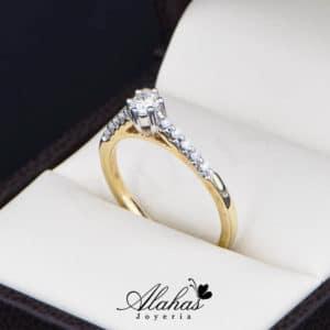 Anillo de Compromiso Oro 14k con diamantes SDIAM-113