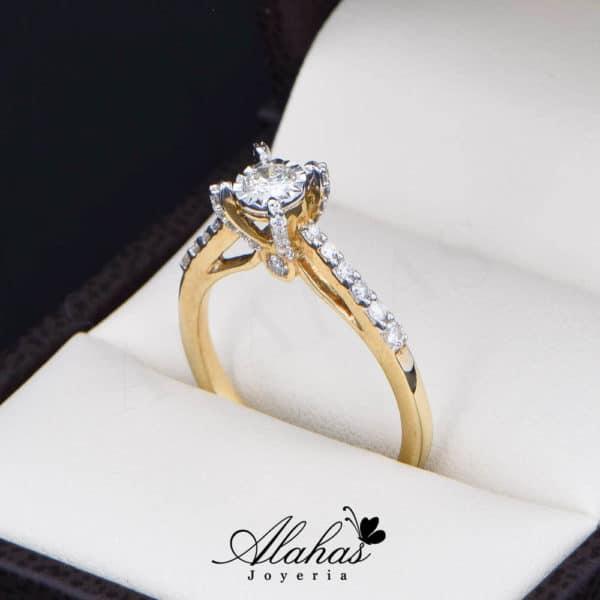 Anillo de Compromiso Oro 14k con diamantes SDIAM-114