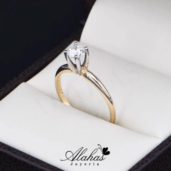 Anillo de Compromiso Oro 14k con diamantes SDIAM-116