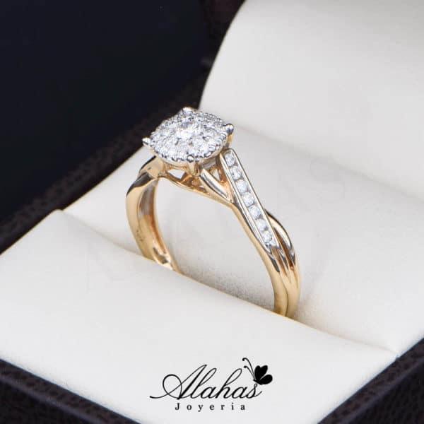 Anillo de Compromiso Oro 14k con diamantes SDIAM-118