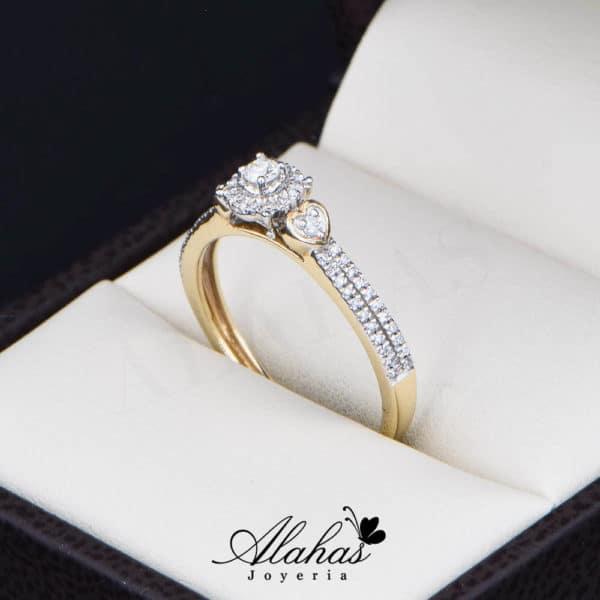 Anillo de Compromiso Oro 14k con diamantes SDIAM-122