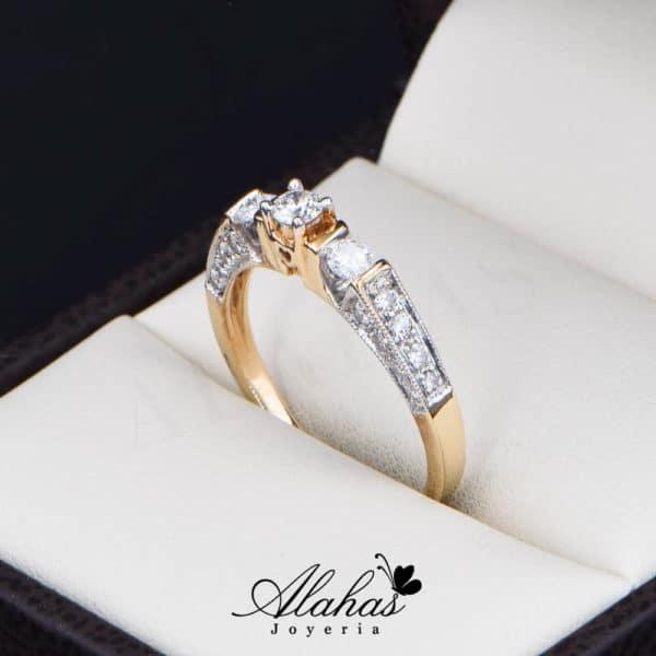 Anillo de Compromiso Oro 14k con diamantes SDIAM-124