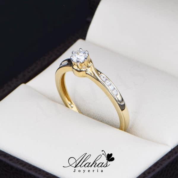 Anillo de Compromiso Oro 14k con diamantes SDIAM-125