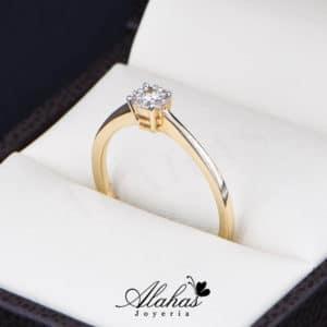 Anillo de Compromiso Oro 14k con diamantes SDIAM-131