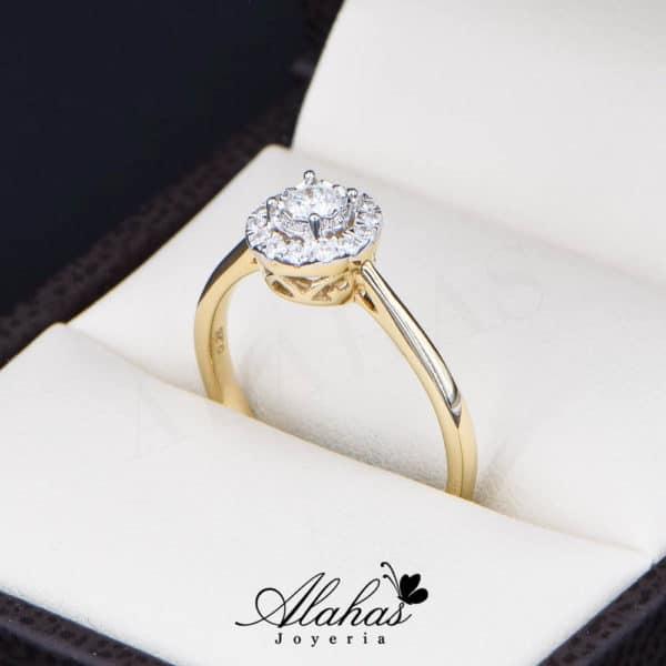Anillo de Compromiso Oro 14k con diamantes SDIAM-136