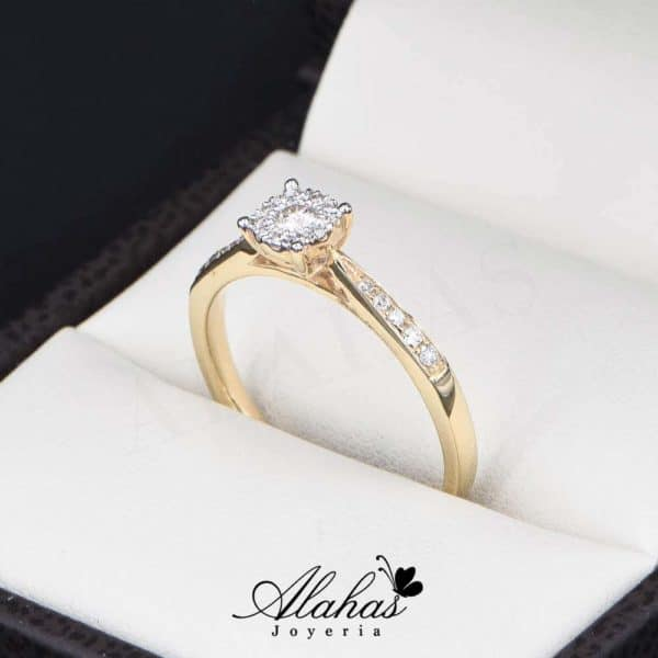 Anillo de Compromiso Oro 14k con diamantes SDIAM-138