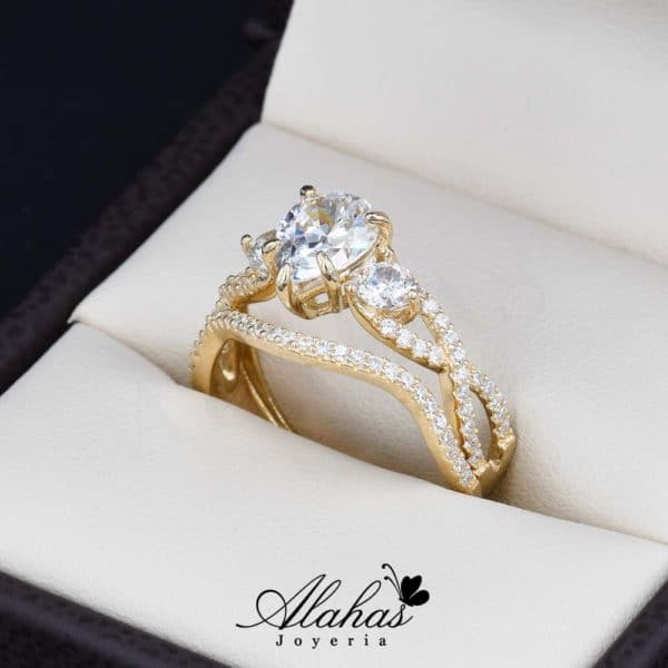 Duo de boda oro 14k joyeria alahas do-075