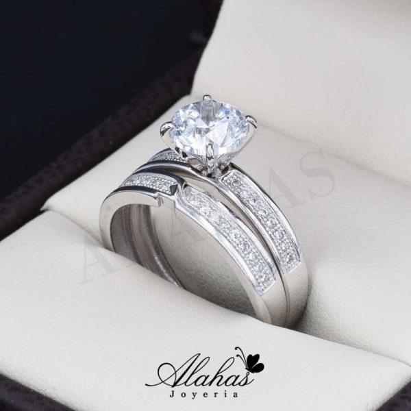 Duo de boda oro 14k joyeria alahas do-076