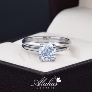 Duo de boda en plata 925 Joyeria Alahas abpd-037