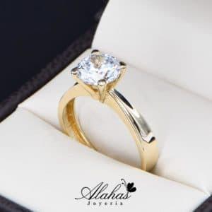 anillo de compromiso oro 14k con zirconias Joyeria Alahas soloz-216