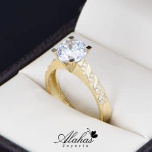 anillo de compromiso oro 14k con zirconias Joyeria Alahas soloz-217