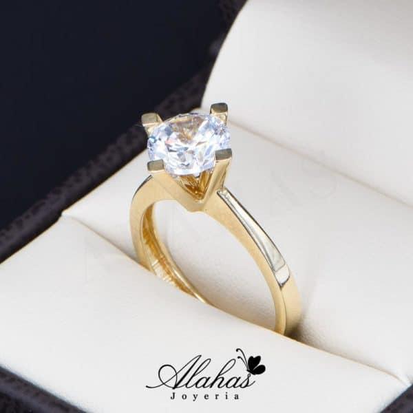 anillo de compromiso oro 14k con zirconias Joyeria Alahas soloz-218