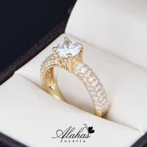 anillo de compromiso oro 14k con zirconias Joyeria Alahas soloz-219