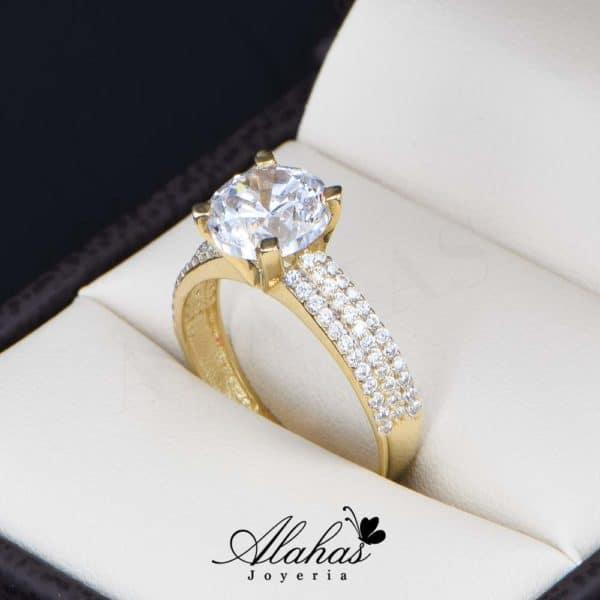 anillo de compromiso oro 14k con zirconias Joyeria Alahas soloz-220