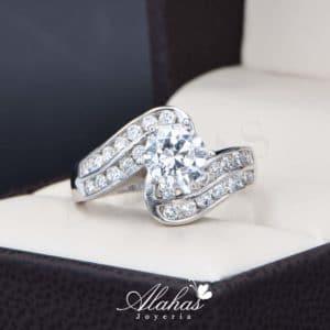 anillo de compromiso oro 14k con zirconias Joyeria Alahas soloz-221