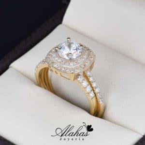 Duo de boda oro 14k Joyeria Alahas do-108